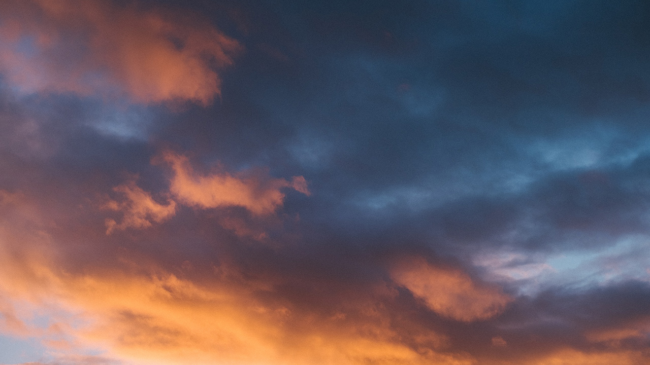 Teal and orange clouds